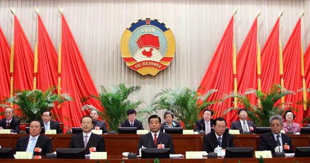 贾庆林主持全国政协十一届常委会第十七次会议
