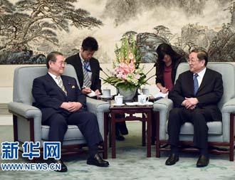 俞正声会见日本自民党亚非问题研究会代表团