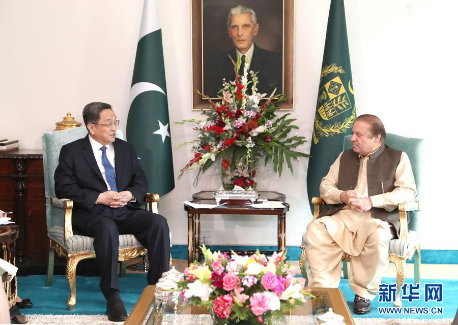 俞正声对巴基斯坦进行正式友好访问