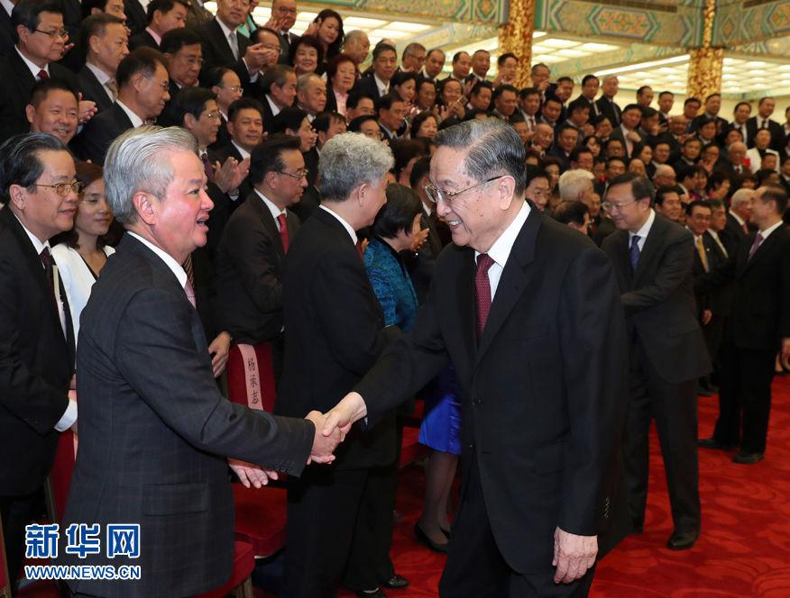俞正声会见中国海外交流协会第六次会员大会全体代..