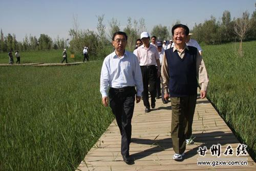 6月10日,全国政协外事委员会考察团来我市考察。