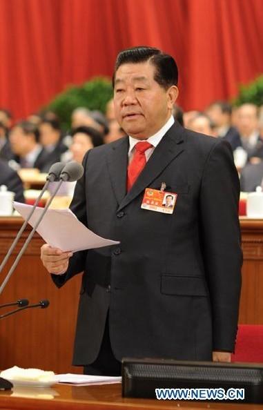 3月13日,中国人民政治协商会议第十一届全国委员会第四次会议在北京人民大会堂举行闭幕会。全国政协主席贾庆林主持闭幕会并讲话。新华社记者李学仁摄