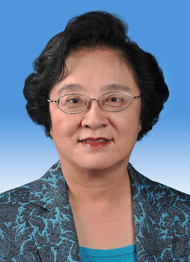 中国人民政治协商会议第十二届全国委员会副主席林文漪 新华社发