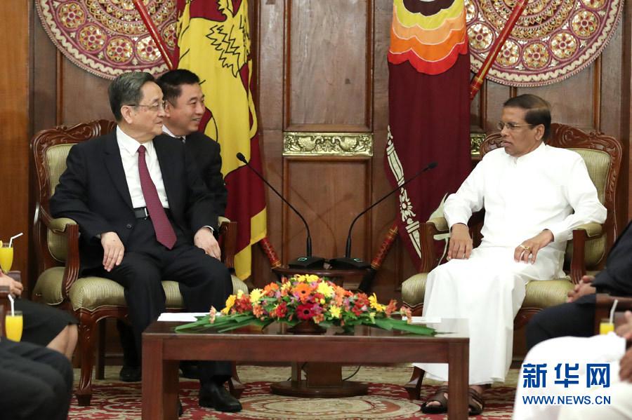 俞正声对斯里兰卡进行正式友好访问