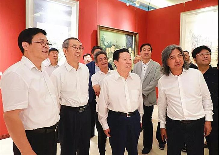 """""""庆祝人民政协成立70周年书画展""""在京举行"""